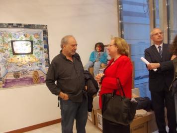 O ποιητής από τη Χιλή Jaime Swart με τη πρέσβειρα της Κούβας Zelmys María Domínguez Cortina©Μkampouraki