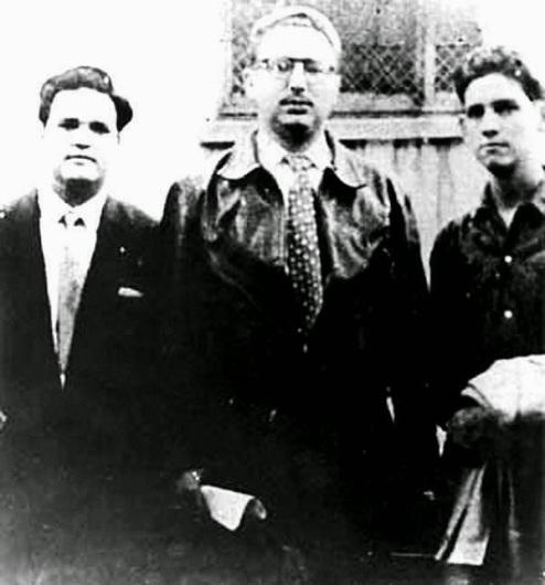 José Antonio Echeverría, René Anillo και Fidel Castro, στο Μεξικό.